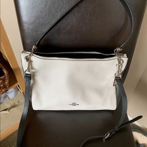 Chalk/Silver Coach Shoulder Bag